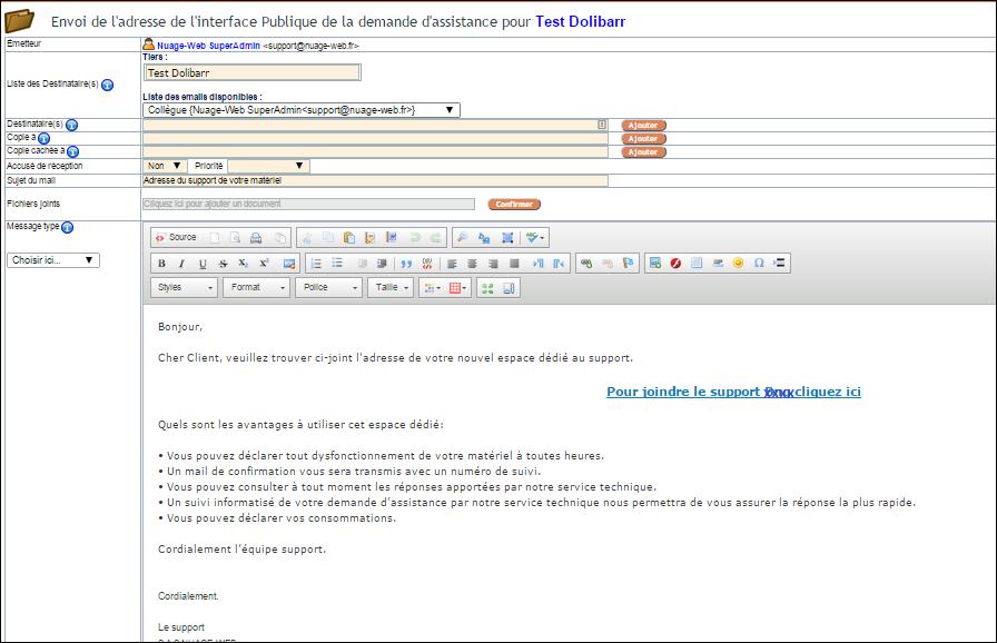 demandes d'assistance ERP Dolibarr DoliPlus