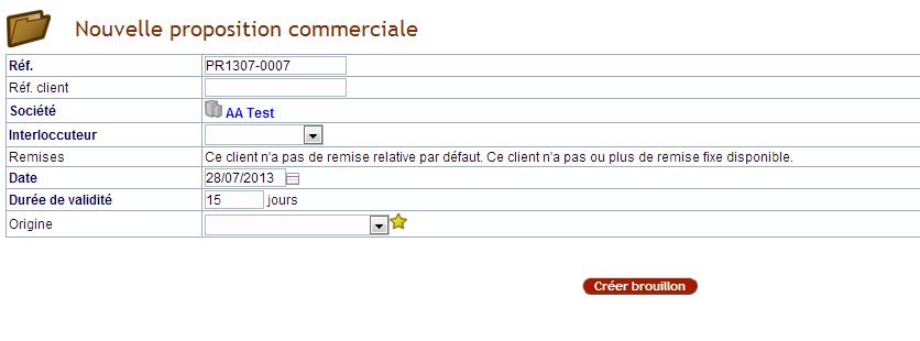 Propositions Financières Dolibarr