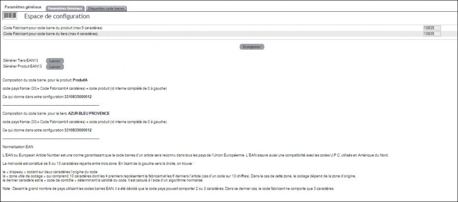 gestion des codes-barres dans ERP dolibarr