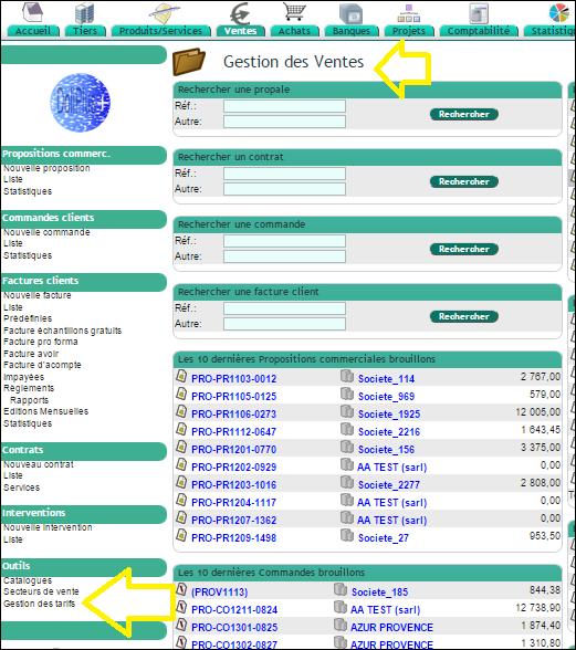 Gestion des tarifs - Vente et achats Dolibarr