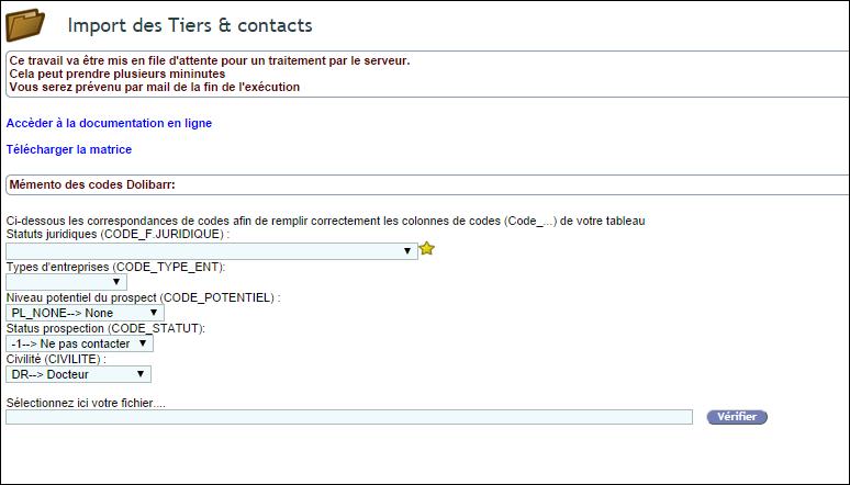 Importer des contacts dans son CRM Dolibarr