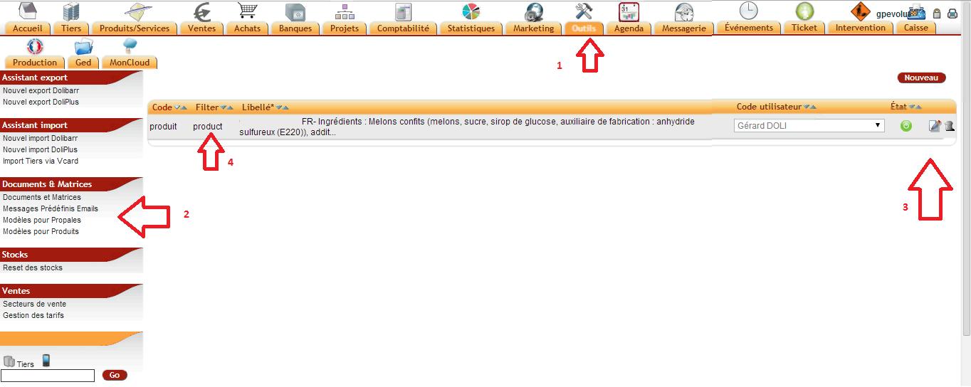 Office DoliPlus éditeur de courrier dans votre crm erp