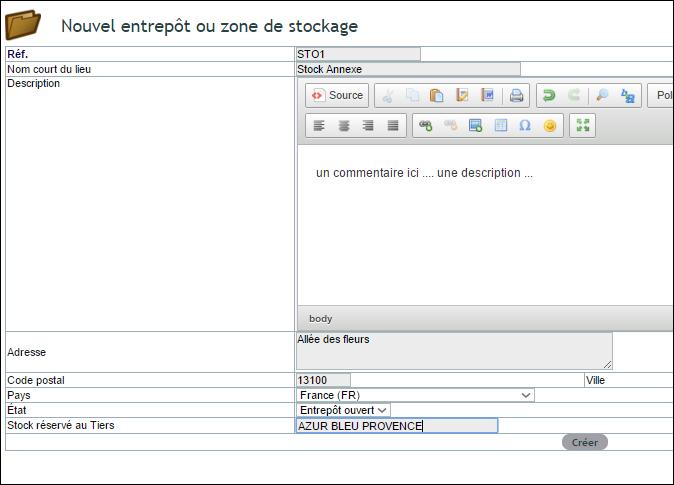Dans votre ERP Dolibarr un logiciel de gestion des stocks